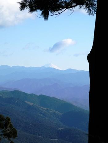 富士山遥拝所から見た富士山