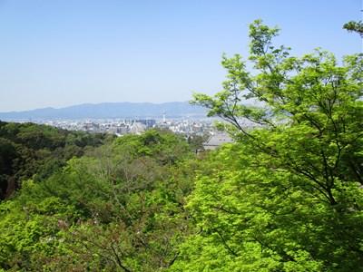 清水の舞台からの京都