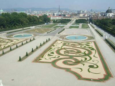 上から見た庭園