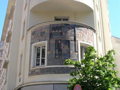 中世風の壁絵