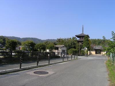 法輪寺への道