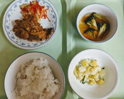 入院3日目の夕飯
