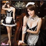 メイド衣装 メイドコスチューム 制服 z623 黒