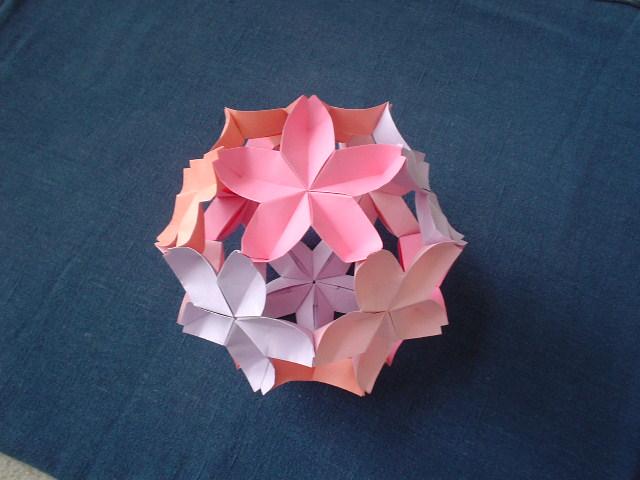 すべての折り紙 折り紙桜の作り方 : 折り紙でボールからブーケまで ...