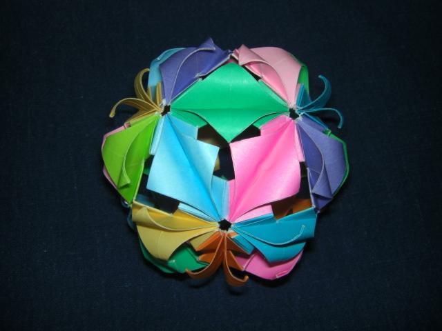 簡単 折り紙:折り紙 飾り玉-cupoftea.blog.shinobi.jp