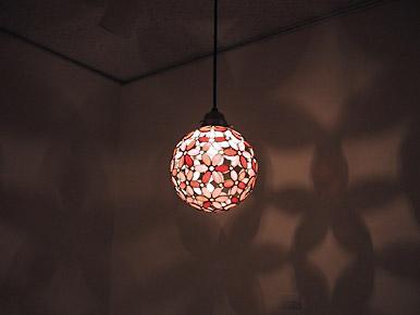 花球体吊りランプ08