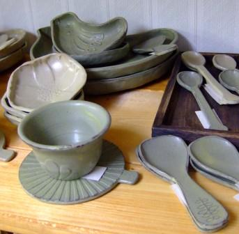 陶器のお皿&スプーン