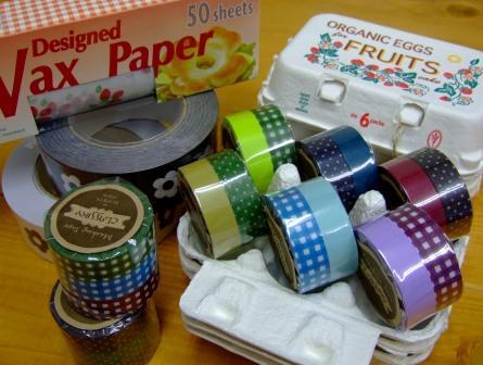 WaxPaper&マスキングテープ&玉子パック