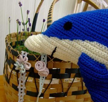 イルカの編みぐるみ&チョーカー