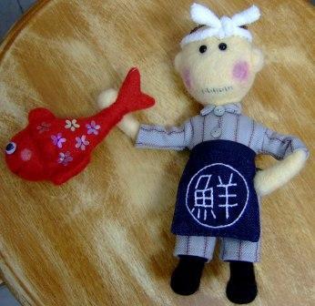 フェルト人形のさかな屋さん
