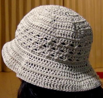 サマーニットの帽子