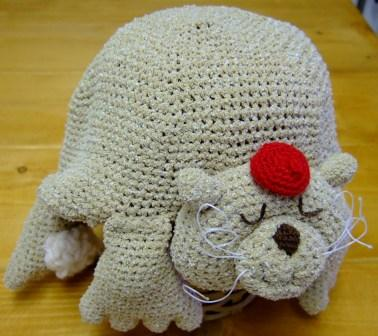 ネコのニット帽子