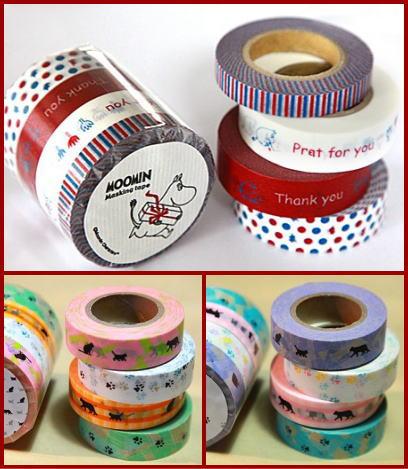 ムーミン&ネコ マスキングテープ