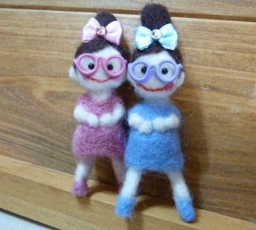 カケラちゃん 羊毛フェルト 人形