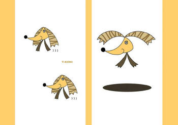 動物キャラクターのブックカバー「飛んでる犬」