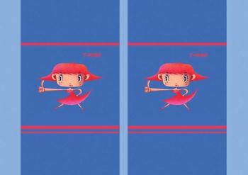 キャラクターイラストのブックカバー「真っ赤なキュートガール」