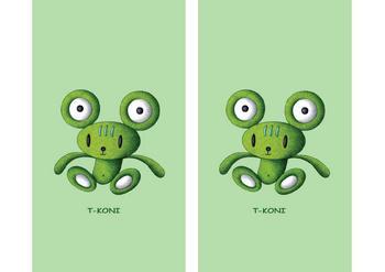 キャラクターイラストのブックカバー「クマ・カエル(フロッグベア)」