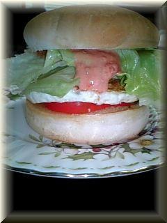 越後のバーガーパンでエッグバーガー