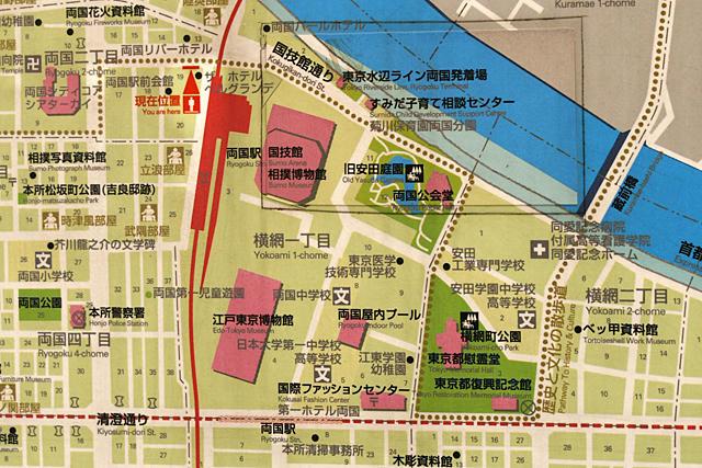 両国駅周辺地図