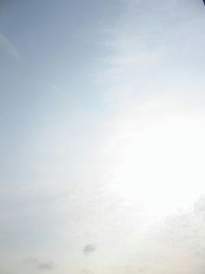 7月9日朝7時ごろの空