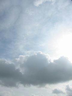 8月3日朝7時半ごろの空