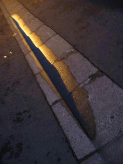 9月19日朝5時ごろの近所の路面