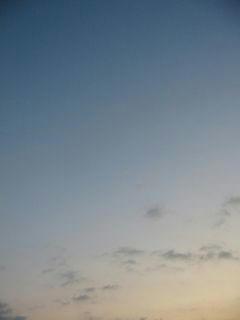 10月24日朝5時半ごろの空01