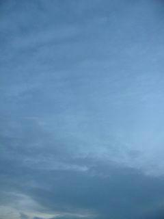 11月7日朝6時ごろの空