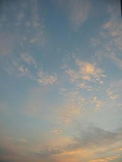 11月9日朝6時10分ごろの空01