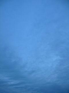 1月29日朝6時半ごろの空