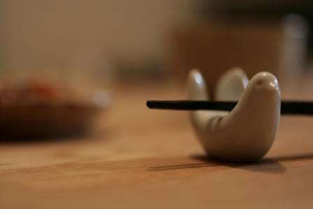 白山陶器の鳩の箸置き