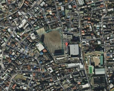 世田谷学園を取り囲む住宅街