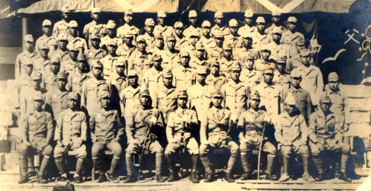 海軍硫黄島警備隊北硫黄島派遣隊 (昭和20年10月 海軍父島根拠地隊に於いて)