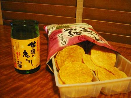 新潟館せんべいと日本酒