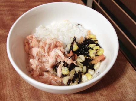鮭とひじきの煮物
