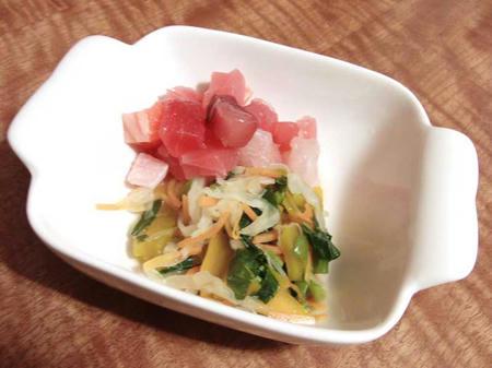 海鮮丼の具と作り置き野菜