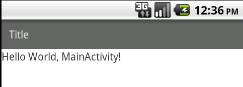 Androidアプリタイトルバー