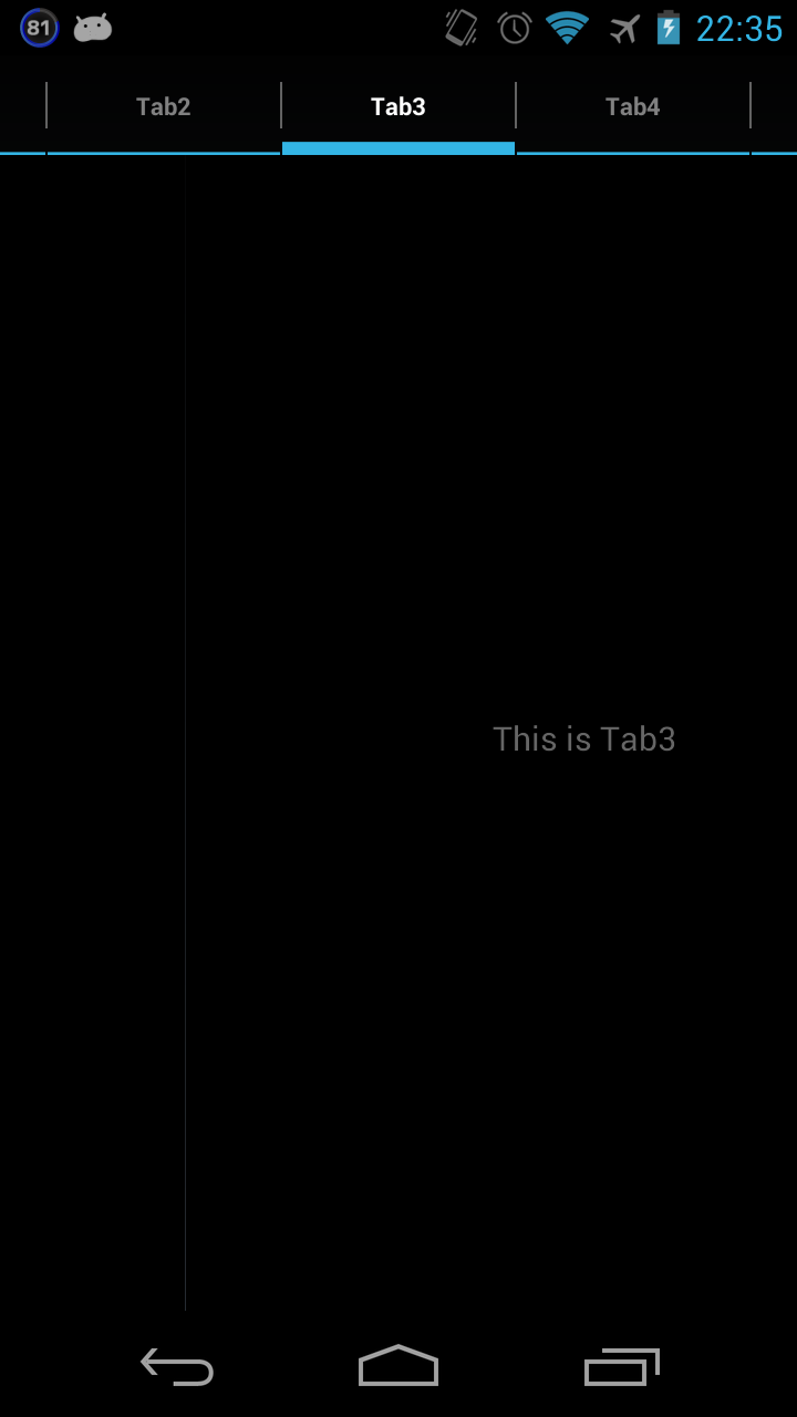 ViewPagerExtensionsで簡単に左右スライドのタブを作る