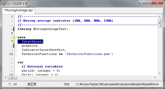 C forex tester indicators