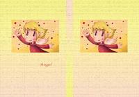 天使のイラスト(色鉛筆画) - 「赤いビー玉」