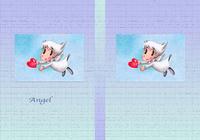 天使のイラスト(色鉛筆画) - 「ハート」