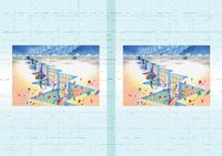 建物イラスト(トリックアート) - 「氷河の街」
