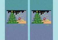 クリスマスイラスト - 「キラキラ星のクリスマスツリー」