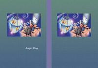 天使犬(色鉛筆画) - 「街灯の光」