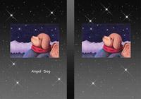 Angel Dog - 天使犬(色鉛筆画) - 「星空」