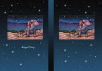 天使犬(色鉛筆画) - 「寒い夜」