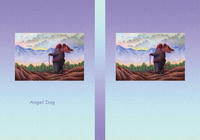 Angel Dog - 天使犬(色鉛筆画) - 「朝日が射す時」