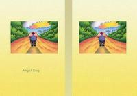 Angel Dog - 天使犬(色鉛筆画) - 「遠い道」
