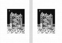 モノクロームイラスト(鉛筆画) - 「空中の門」