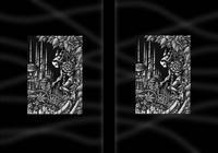 モノクロームイラスト(鉛筆画) - 「鋼鉄都市の防人」